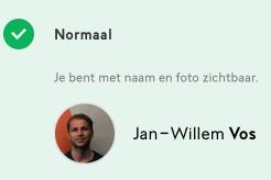 Wijzig je zichtbaarheid op voetbal.nl