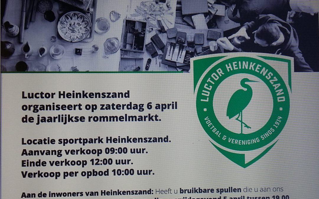 Rommelmarkt op 6 april: breng zelf je spullen!